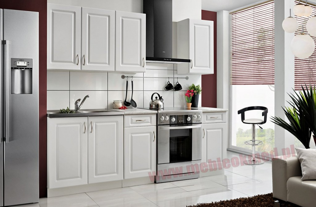Black red white kuchnie cennik